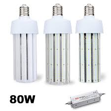 80 watt canada 347 480vac corn style led retrofit light bulbs
