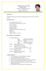 Latest Resume Format For Experienced Sample Resume For Residency Training Corpedo Com