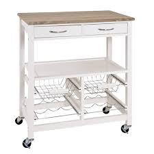 table de cuisine roulante blanc chêne clair l68 x h84 x p37 cm