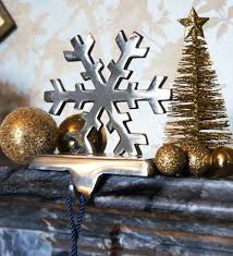 snowflake stocking holder country metal works