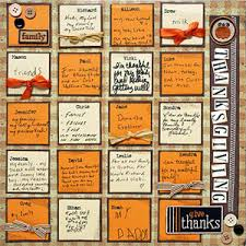 scrapbook thanksgiving without photos scrapbooking layout grid