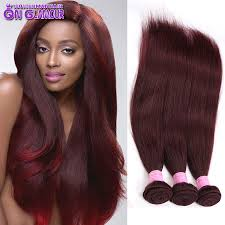 Brazilian Extensions Hair by Mink 7a Burgundy Brazilian Straight Hair 4 Bundles 99j Virgin Hair