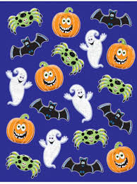 halloween favours cute glittered halloween stickers 3 sheets amazon co uk toys