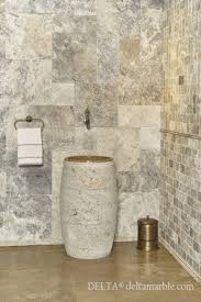 silver travertine french pattern set tumbled bathroom design