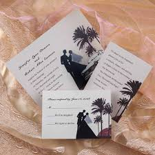 palm tree wedding invitations cheap chic black mexican wedding