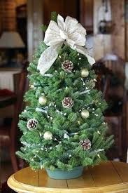 winter elegance tabletop tree decorated artificial storage