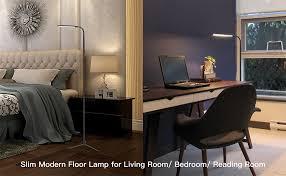 youkoyi f9 modern touch led standing floor lamp reading for living