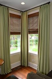 bay window curtain rod corner connectors curtains curtain rods