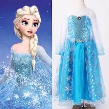 Halloween Elsa Costume Aliexpress Buy Halloween Princess Kids Girls Queen Elsa