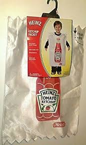 Ketchup Halloween Costume Rasta Imposta Heinz Ketchup Packet Toddler Size 3t 4t