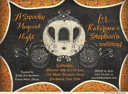 halloween wedding invitations spooky magical