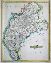 Cary Map Original 18th Century Map Cumberland John Cary 1793