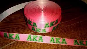 custom grosgrain ribbon sale 7 8 inch custom made aka sorority grosgrain ribbon