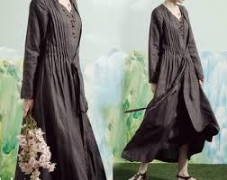 long linen dress etsy