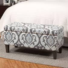 Grey Fabric Storage Ottoman Nice Decorative Storage Bench Storage Ottoman Bench Large Gray