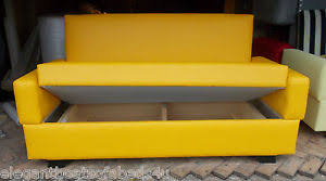 sofa 120 cm small bright yellow sofa bed 120cm 2 seater sofa bed storage faux