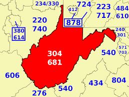 Charleston Sc Zip Code Map Area Codes 304 And 681 Wikipedia