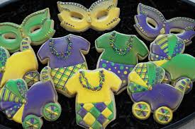 mardi gras babies mardi gras baby shower cookie connection party ideas