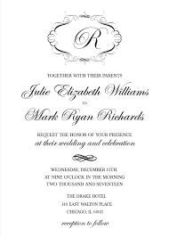 printable wedding invitations print monogram free printable wedding invitations