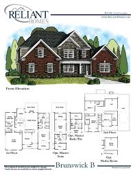 Side Garage Floor Plans by Brunswick B Se Reliant Homes New Homes In Atlanta