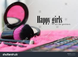 beauty makeup quote quote about beauty on makeup supplies stock photo 321045848