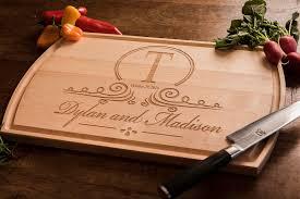 wedding gift anniversary cutting board personalized wedding gift monogrammed wood