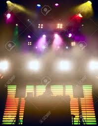 Beautiful Lighting Dj At A Nightclub On The Scene For A Game Bright Beautiful