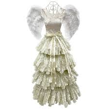 d6 5 ft evangeline angel dress christmas tree at home at home