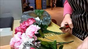 Flower Arrangement Techniques by Artificial Cemetery Floral Arrangement Youtube