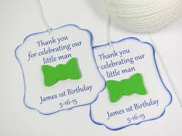 bow tie party favor tags little man baby shower tags little