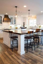 lighting multi pendant for kitchen with wooden island also