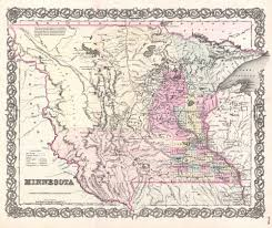 State Of Mn Map by File 1855 Colton Map Of Minnesota Geographicus Minnesota