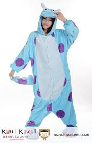 Sulley Womens Halloween Costume Monsters Blue Sulley Character Kigurumi Onesie Http