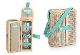 wine picnic basket wine carrier and picnic basket adds style to al fresco