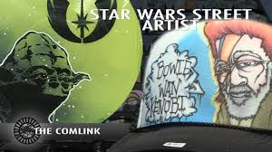 star wars street artist dan gregory comlink burst youtube