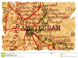 Map Of Amsterdam Amsterdam On A Map Stock Photo Image 49605364