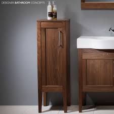 freestanding bathroom cabinet corner vanity unit glass storage