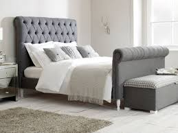Grey Sleigh Bed Super King Bed Bedroom Pinterest King Size Emperor Bed And