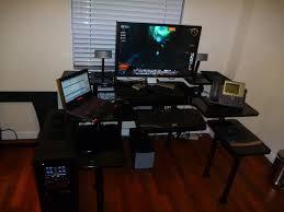 computer l shaped desks gaming computer desk desks pinterest for l setup ukood