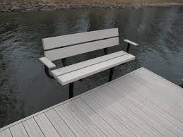 the dock sides bench provides comfortable seating for your dock or