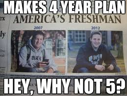 College Students Meme - guy in college freshman meme now stars in a new college senior meme