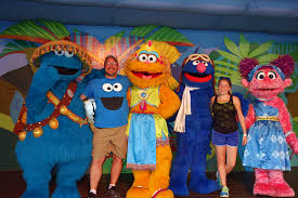 busch gardens tampa sesame street characters grover zoe cookie