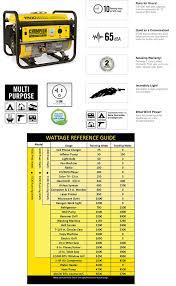 champion power equipment 1 200 watt 1 500 watt recoil start