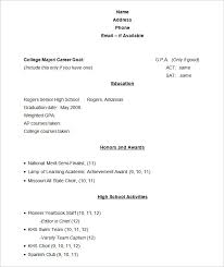 Template Student Resume Format For Resume Sample Academic Resume Template Student Resume