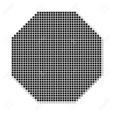 octagon square the simple geometric pattern of black squares