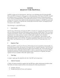 rfp cover letter template letter sle aimcoach me
