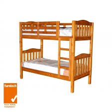 Bunk Bed Adelaide Adelaide Timber King Single Bunk Bed In Chestnut 759 00 Amaze