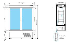 Double Glass Door by Siena 2 U2013 Double Glass Door Chiller Freezer Lowe Rental