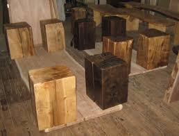 wood cube end table tables stools solid wood cubes semi cubes of walnut maple by