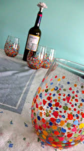 diy painted wine glasses u2013 serendipity by sara lynn